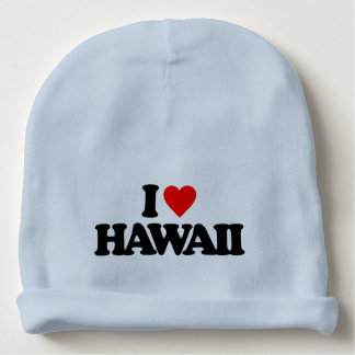 I LOVE HAWAII BABY BEANIE