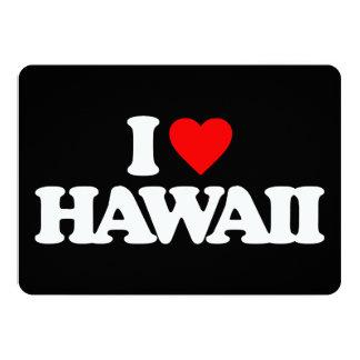 I LOVE HAWAII INVITE