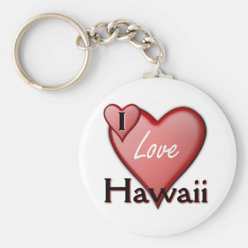 I Love Hawaii Keychains
