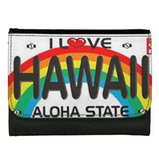 I Love Hawaii Leather Wallet