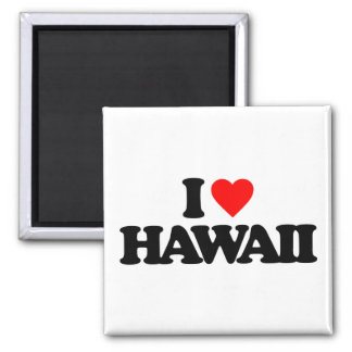 I LOVE HAWAII SQUARE MAGNET