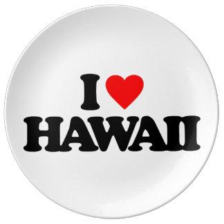 I LOVE HAWAII PORCELAIN PLATE