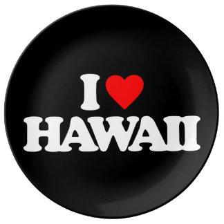 I LOVE HAWAII PORCELAIN PLATES