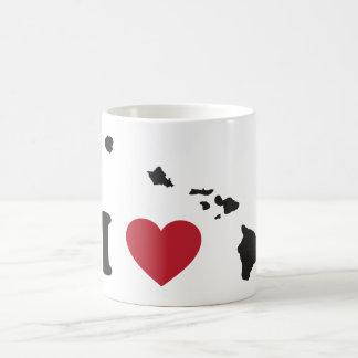 I Love Hawaii Coffee Mugs