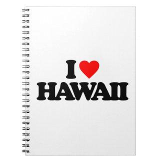 I LOVE HAWAII SPIRAL NOTE BOOK