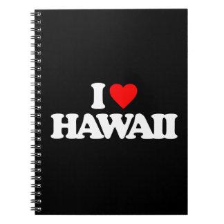 I LOVE HAWAII NOTE BOOKS