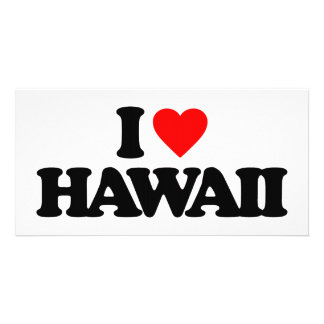 I LOVE HAWAII PHOTO GREETING CARD