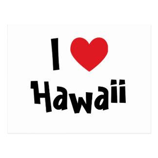 I Love Hawaii Postcard