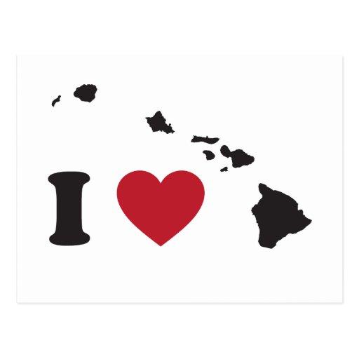I Love Hawaii Post Card