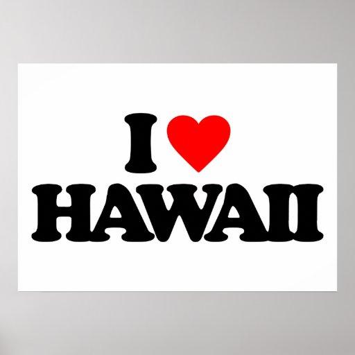 I LOVE HAWAII POSTER