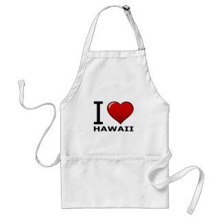 I LOVE HAWAII STANDARD APRON