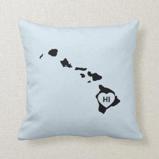 I Love Hawaii State White Pillows