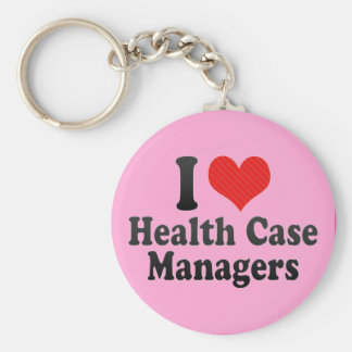 I Love Health Case Managers Keychain