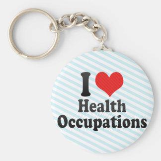I Love Health Occupations Key Chains
