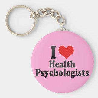 I Love Health Psychologists Key Chains