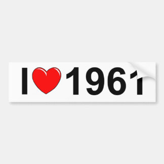 I Love (Heart) 1961 Bumper Sticker