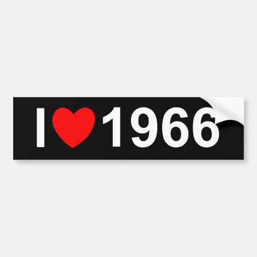 I Love (Heart) 1966 Bumper Stickers