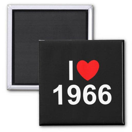 I Love (Heart) 1966 Fridge Magnet