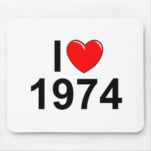 I Love (Heart) 1974 Mouse Pad