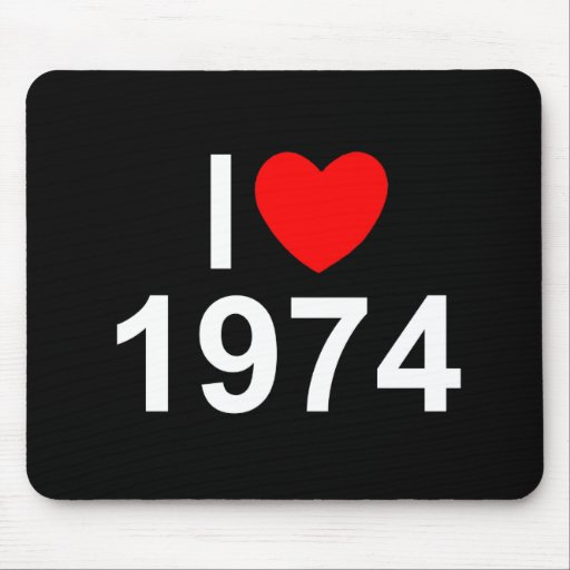 I Love (Heart) 1974 Mouse Pads