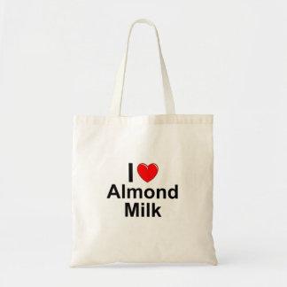 I Love Heart Almond Milk Tote Bag