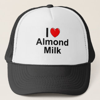 I Love Heart Almond Milk Trucker Hat