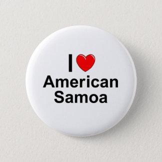 I Love Heart American Samoa 6 Cm Round Badge