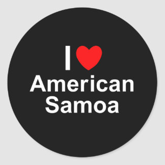 I Love Heart American Samoa Classic Round Sticker