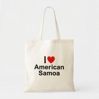 I Love Heart American Samoa Tote Bag
