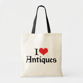 I Love Heart Antiques - Antique Collector Budget Tote Bag