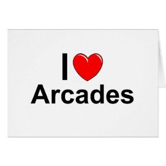 I Love Heart Arcades Card