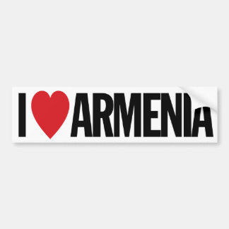 "I Love Heart Armenia 11"" 28cm Vinyl Decal Bumper Sticker"