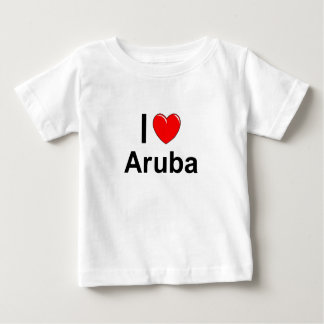 I Love Heart Aruba Baby T-Shirt