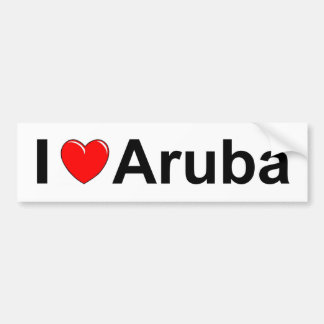 I Love Heart Aruba Bumper Sticker