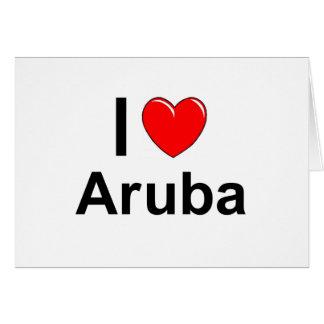 I Love Heart Aruba Card