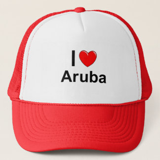 I Love Heart Aruba Trucker Hat