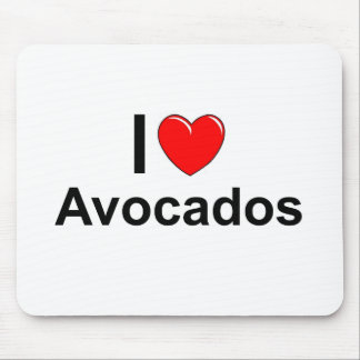 I Love Heart Avocados Mouse Pad