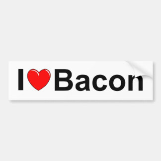 I Love (Heart) Bacon Bumper Sticker