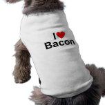 I Love (Heart) Bacon Doggie T-shirt
