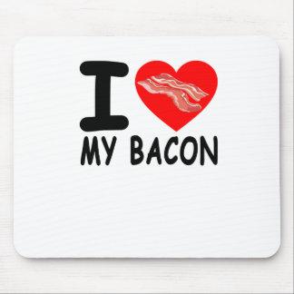 I LOVE HEART BACON FUNNY SHIRT . MOUSE PAD