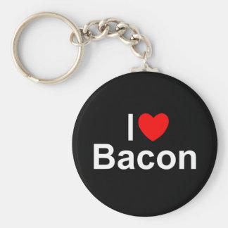I Love (Heart) Bacon Keychain
