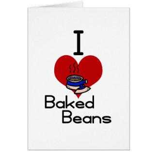I love-heart baked beans card