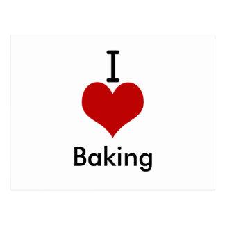 I Love (heart) Baking Postcard