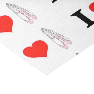 I Love Heart Ballet Tissue Paper