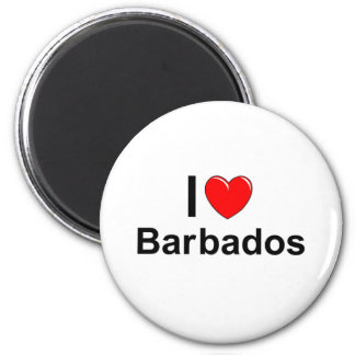 I Love Heart Barbados Magnet