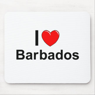 I Love Heart Barbados Mouse Pad