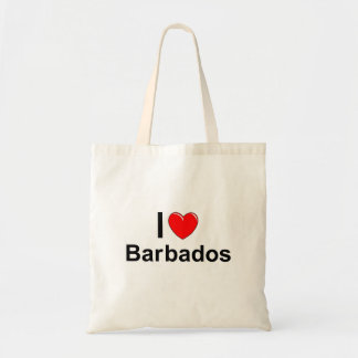 I Love Heart Barbados Tote Bag