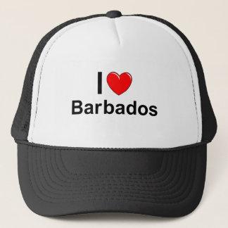 I Love Heart Barbados Trucker Hat