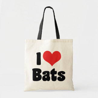 I Love Heart Bats Budget Tote Bag