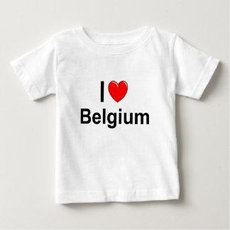 I Love Heart Belgium Baby T-Shirt